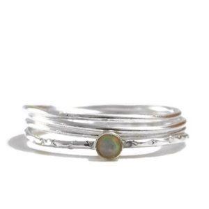 moodtherapy Jewelry - 925 SS AUSTRALIAN OPAL RING SET